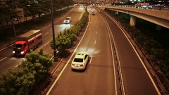 Night trafic in Ho Chi Minh city. Vietnam. Fast shoot Stock Footage