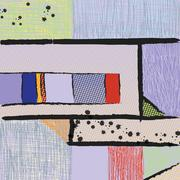 Modern art abstract painting Piirros