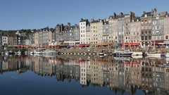 HONFLEUR, FRANCE - SEPTEMBER 2016 Famous artistic place and port Stock Footage