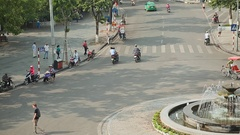Day trafic in Hanoi city. Vietnam. Fast shoot Stock Footage