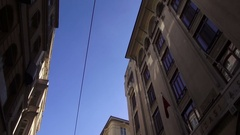 Bottom view of the historical buildings of the city Istanbul Stock Footage