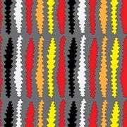 Strange Worm Seamless Pattern Stock Illustration