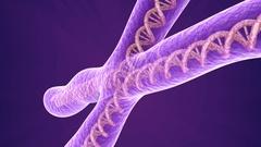 Chromosome molecule closeup, 3D animation Stock Footage