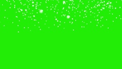 Snow fall green screen template Stock Footage