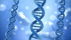 DNA molecule concept, Medical accurate 3D animation Stock Footage
