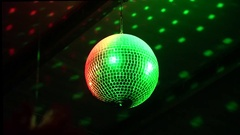 Rotating disco mirror ball Stock Footage