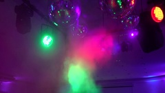 Colorful lights in a concert Stock Footage