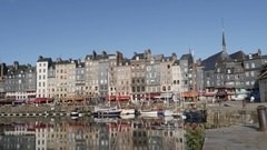 HONFLEUR, FRANCE - Beautiful port in northern Normandy Stock Footage