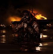 Navy SEAL frogman Stock Photos