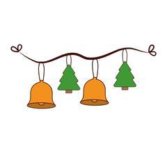 Merry christmas decoration hanging Stock Illustration