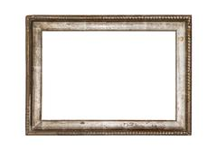 Old frame isolated on white. Stock Photos