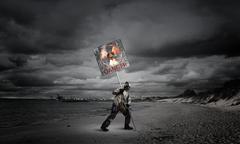 Apocalypse and disaster concept Stock Photos