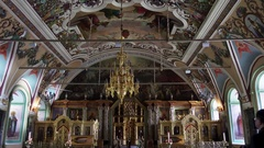 Church of St. Sergius in Trinity Lavra, Russia Stock Footage