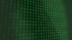 Green modern futuristic Computer Binary Code software Stock Footage