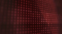 Red modern futuristic Computer Binary Code software Stock Footage