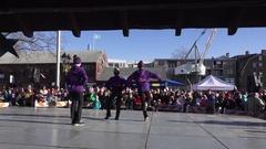 Reverse Shot Teenage Girls Dancing Stock Footage