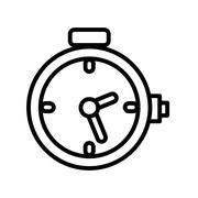 Chronometer watch isolated icon Stock Illustration