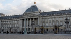 Palace royal brussels Stock Footage