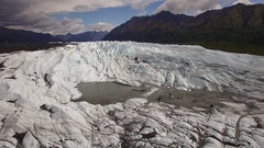 Ascending view of an Alaskan glacier. Stock Footage