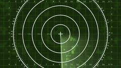 Radar Blip Full Screen, Digital (60fps) Stock Footage