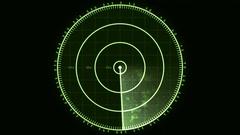 Radar Blip Screen, Analog (60fps) Stock Footage