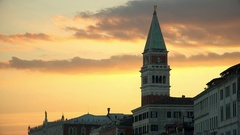 Sunset in Venice, Italy Stock Footage
