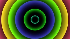 Expanding Variegated Concentric Rings - Loop Abstract Animation Stock Footage