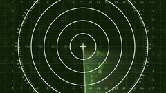 Radar Blip Full Screen, Analog (60fps) Stock Footage