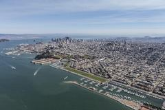 San Francisco Bay and City Afternoon Aerial View Kuvituskuvat