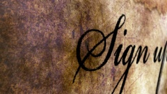 Sign up grunge concept Stock Footage