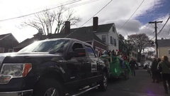 Girls Scouts Christmas Parade Stock Footage