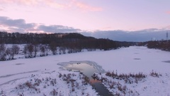 Aerial view of the river Stock Footage