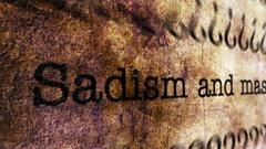 Sadism grunge concept Stock Footage