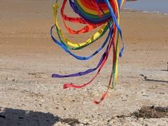 Flagler Beach Spinning Kite Stock Footage