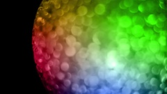 Rainbow Ball of Orbs Motion Background Stock Footage