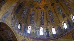 Detail, St Marks dome, Venice. Stock Footage