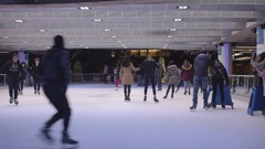 Robson Square Ice Rink Stock Footage