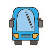 Bus vehicule land transport travel Stock Illustration