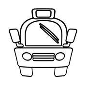 Outline taxi car vehicule transport public Stock Illustration