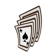 Ace spades magician show playing Stock Illustration