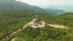 A large statue of Buddha Tian tan Stock Footage
