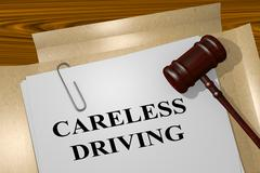 Careless Driving - legal concept Stock Illustration