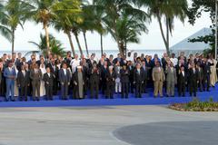 Porlamar, Venezuela. September 17th 2016 - Presidents of Delegations pose f.. Stock Photos