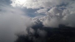 Flying through the clouds Stock Footage