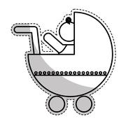 Baby simple icon image Stock Illustration