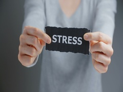 Stress - Person with a Label Stock Footage