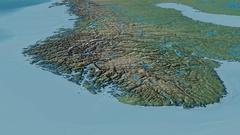 Glide over Scandinavian mountain range - masks. Natural Earth Stock Footage