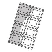 Chocolate bar icon image Stock Illustration