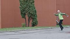 Senior Man Doing Carioca Drill Stock Footage