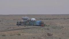 Space rocket (RKN) Soyuz-FG (Russia) Stock Footage